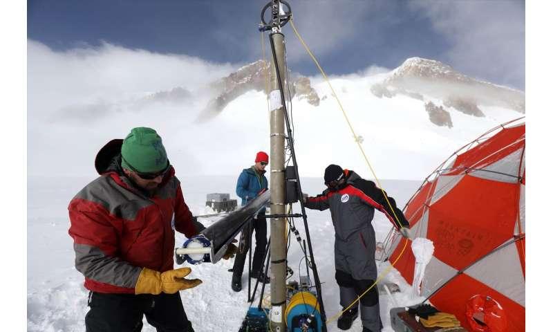 The Anthropocene signature on Mount Elbrus, Caucasus