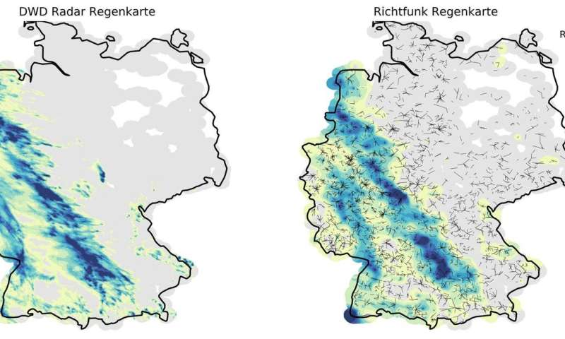 Germany-wide rainfall measurements via the mobile network