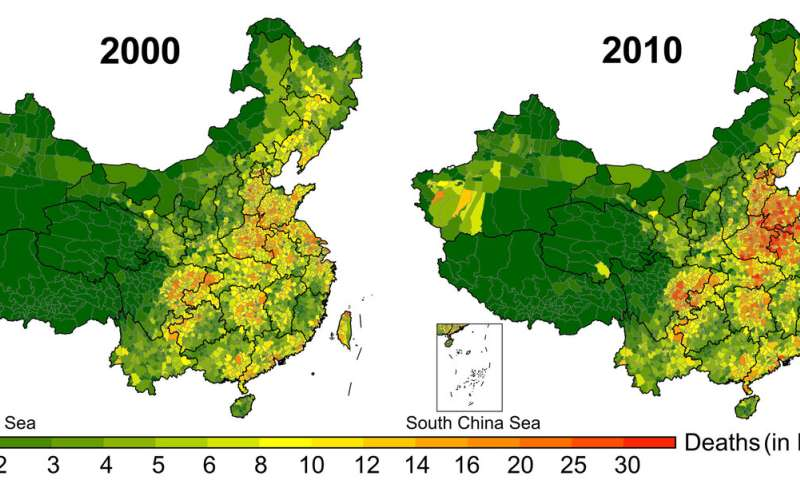Researchers claim long-term exposure to air pollution in China killed 30.8 million people between 2000 and 2016