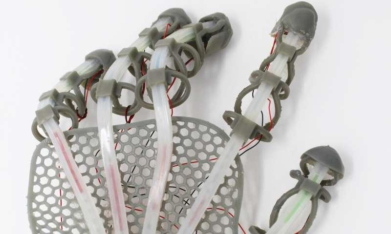 Stretchable 'skin' sensor gives robots human sensation