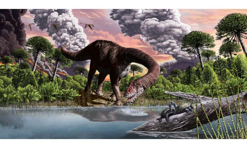 Global warming triggered the evolution of giant dinosaurs