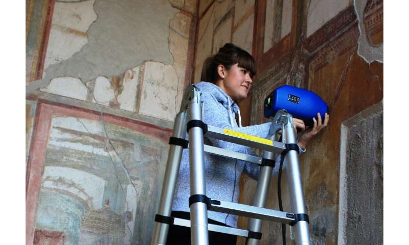 Pyroclasts protect the paintings of Pompeii buried but damage them when they are unearthed