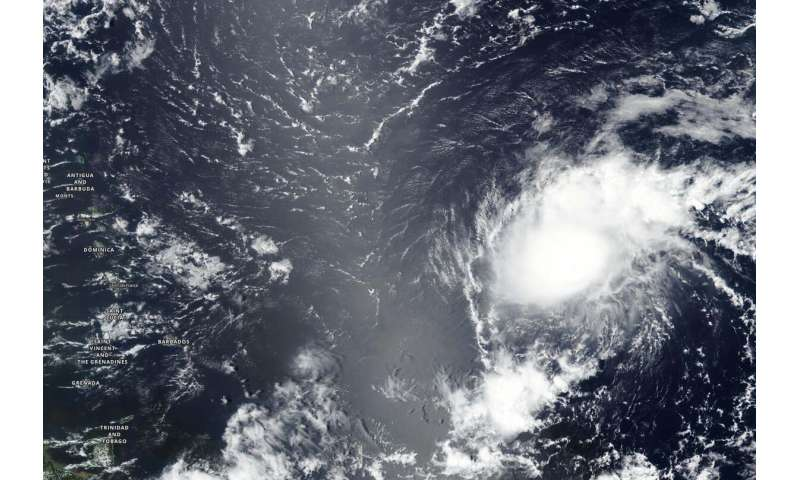 NASA finds wind shear affecting Tropical Storm Josephine