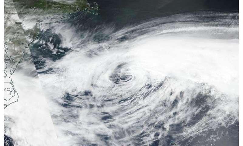 NASA-NOAA satellite catches post-tropical storm Arthur's end