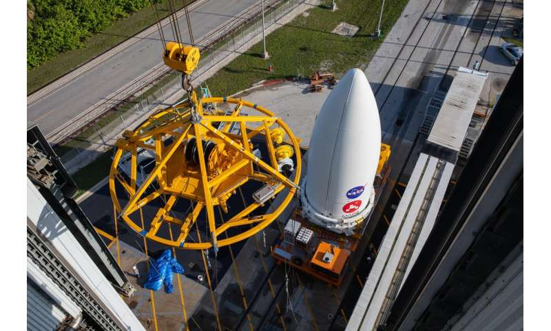 NASA's Perseverance rover attached to Atlas V rocket