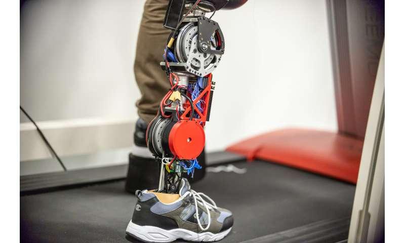Space station motors make a robotic prosthetic leg more comfortable, extend battery life