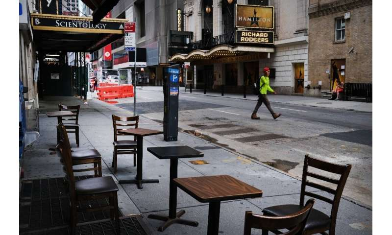 The coronavirus epidemic has left thousands dead in New York and hammered the economy, as seen in this photo of an empty Broadwa