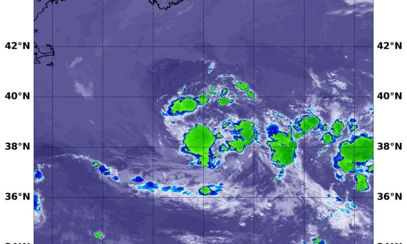 NASA analyzes the newest Atlantic Ocean subtropical depression
