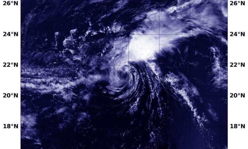 NASA finds wind shear not letting up on Tropical Storm Vicky