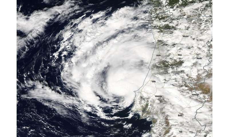 NASA's aqua satellite helps confirm subtropical storm alpha
