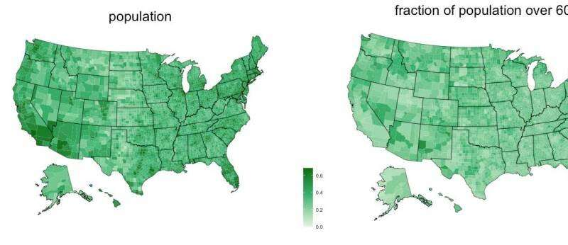 Researchers map rural U.S. counties most vulnerable to COVID-19