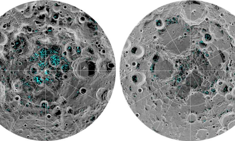 Simulations show lander exhaust could cloud studies of lunar ices