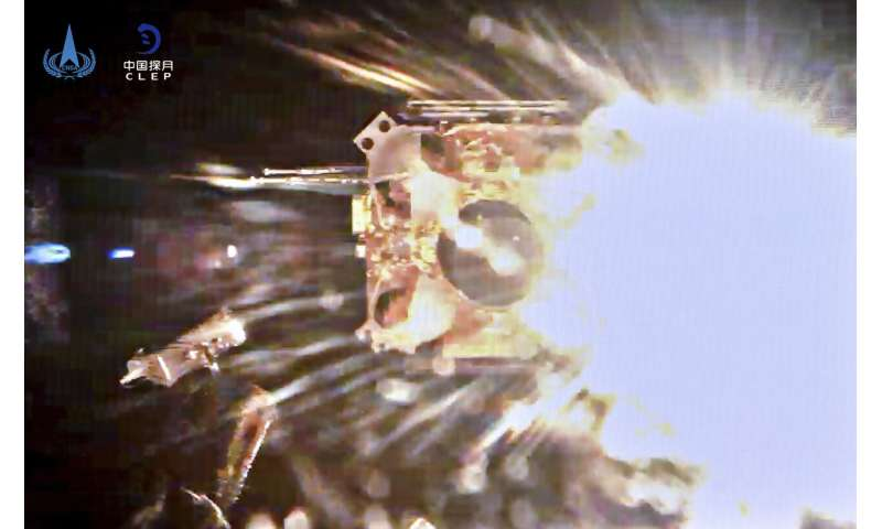 Chinese probe orbiting moon with Earth-bound samples