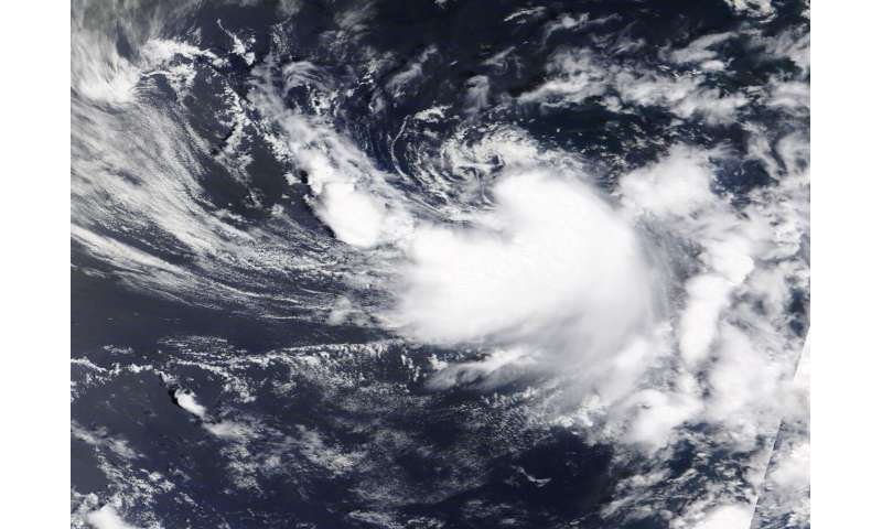 NASA satellite gives a hello to tropical storm Dolly