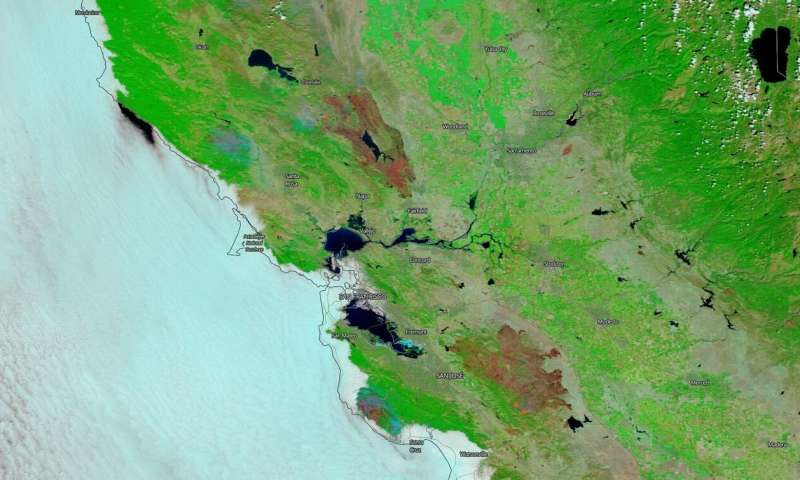 NASA's Terra Satellite reveals burn scars from California's two largest fires