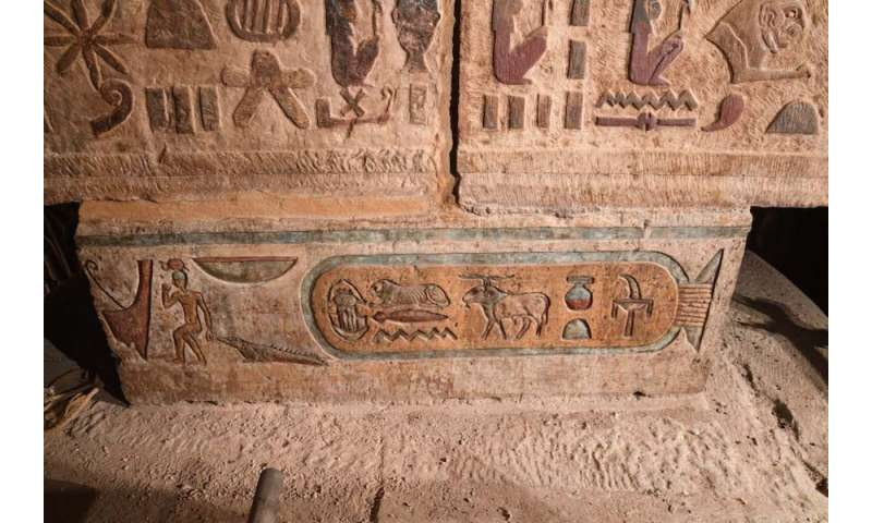 Research project reveals the original pigments of 200-year-old inscriptions at the temple of Esna