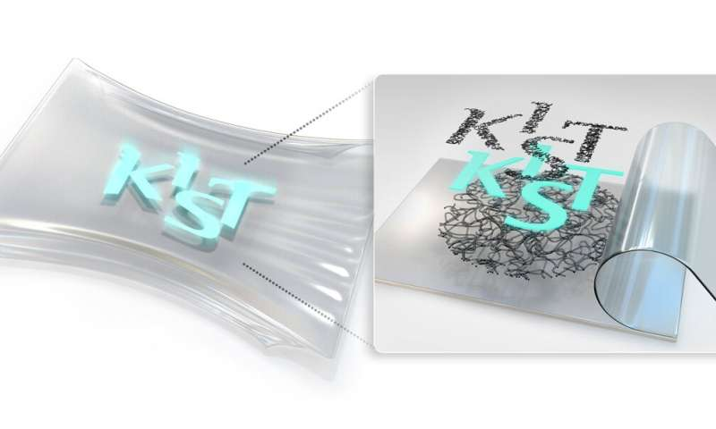 KIST develops large-scale stretchable and transparent electrodes