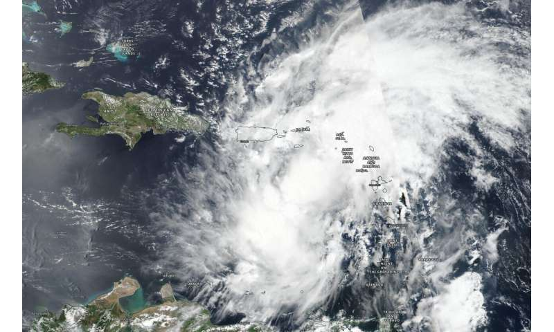NASA-NOAA satellite tracks Isaias' development, movement, soaking potential