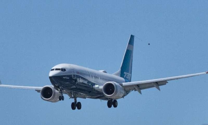 A Boeing 737 MAX aircraft landing earlier this week following a FAA recertification flight