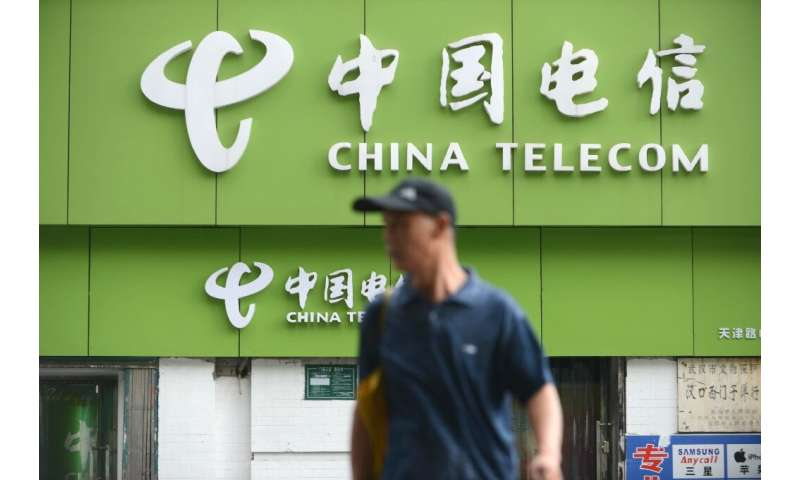 A China Telecom store in Wuhan, in central China's Hubei province