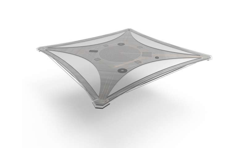 A dashboard tray that appears and disappears at the wave of a hand