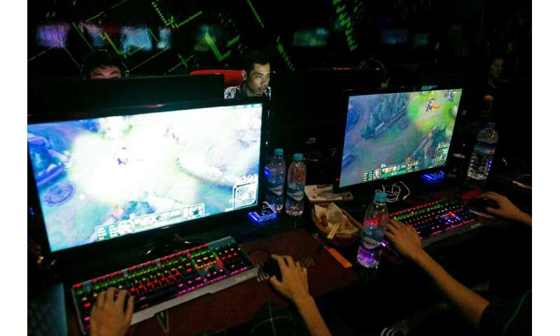 A Dota 2 player at a tournament in Myanmar's capital Yangon