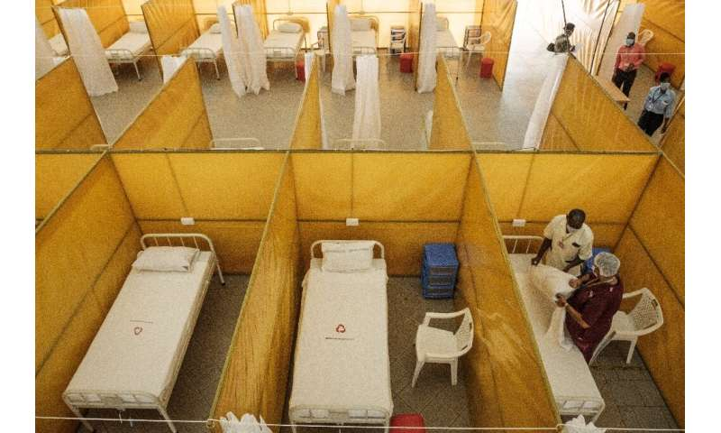 A field hospital with 100 beds is set up at Aga Khan University Hospital in Nairobi, Kenya