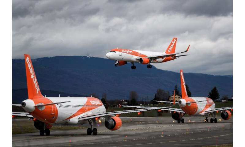After it grounds its planes, easyJet said that for two months crew would be paid 80 percent of their average pay thanks to an em