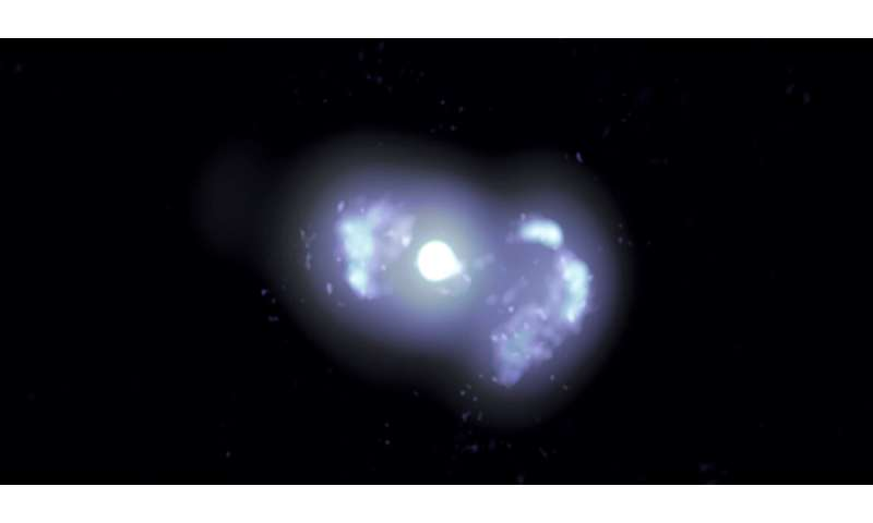 A galaxy's stop-and-start young radio jets