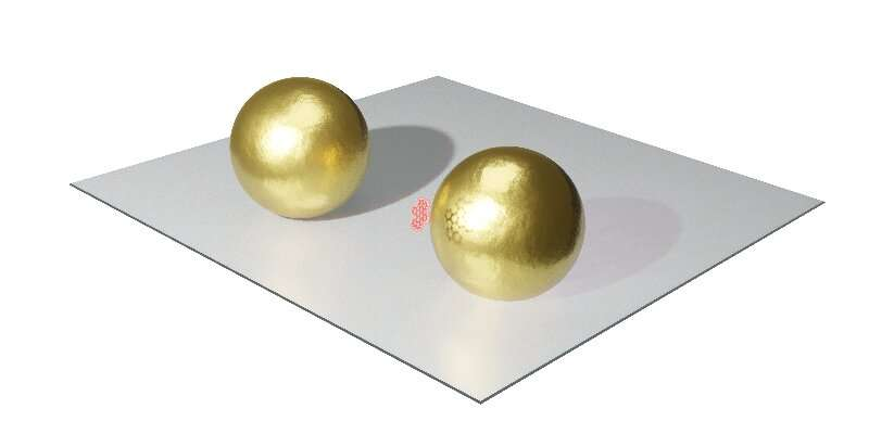 A gold nanoparticle nearly cloaked by a single molecule