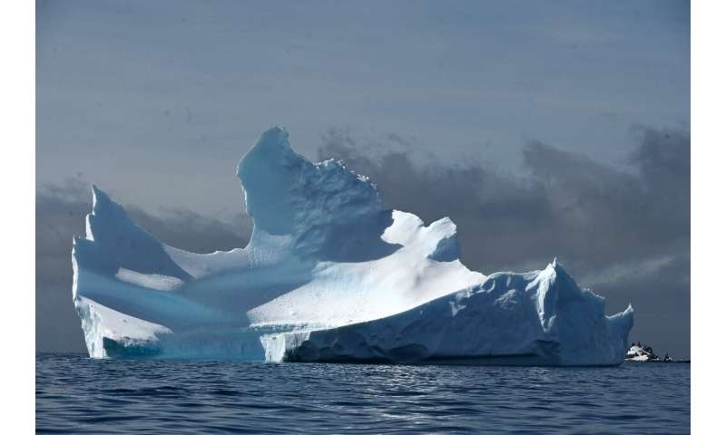 A Half Moon Island iceberg is pictured in Antarctica in November 2019