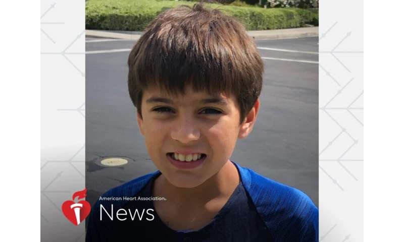 AHA news: routine checkup led to open-heart surgery – at age 6
