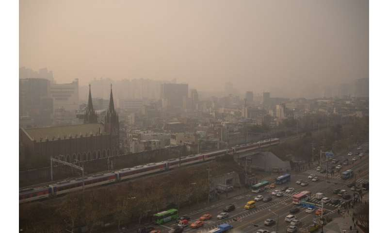 A heavily polluted Seoul pictured in December 2019