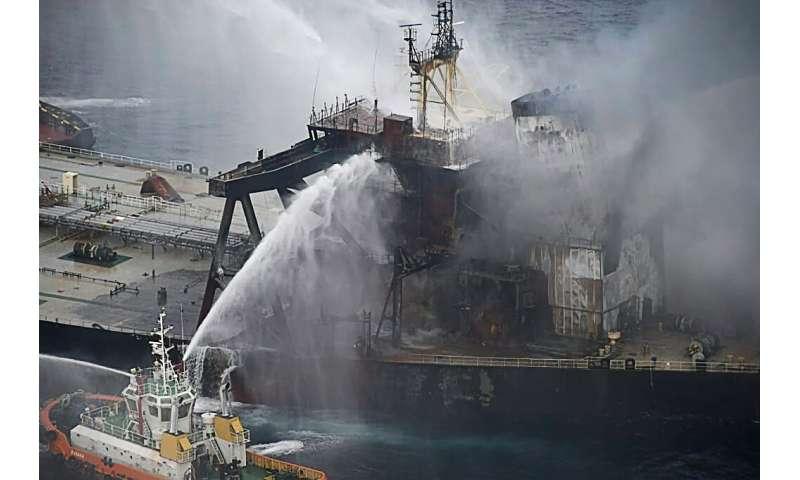 A huge week-long blaze aboard the New Diamond vessel was finally extinguished Wednesday