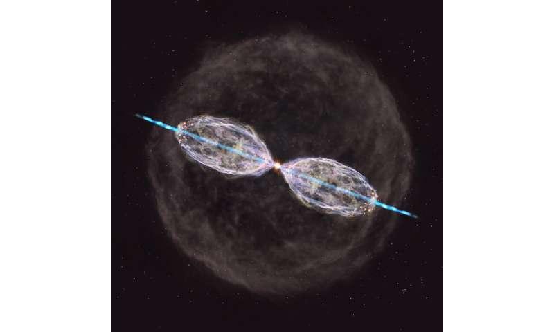 ALMA spots metamorphosing aged star