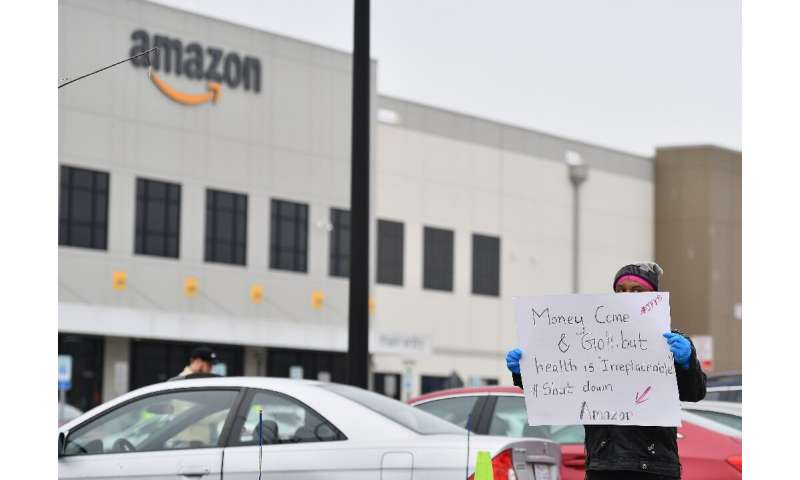 Amazon warehouses have been the site of worker protests as the company's role to meet consumer demands during the pandemic has r