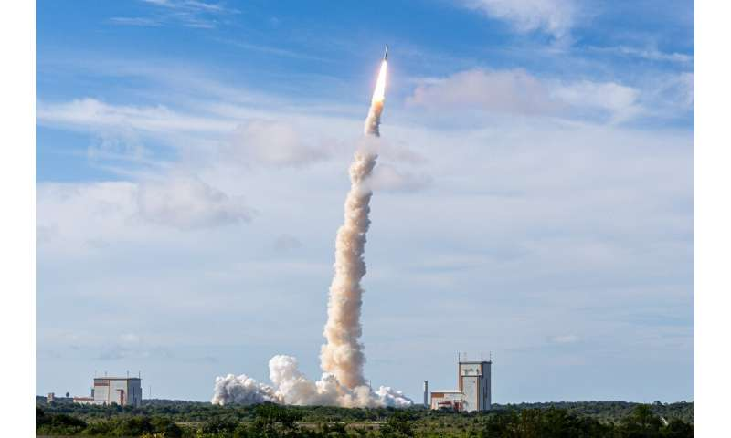 An Ariane 5 carrying an OHB-built satellite into orbit last year