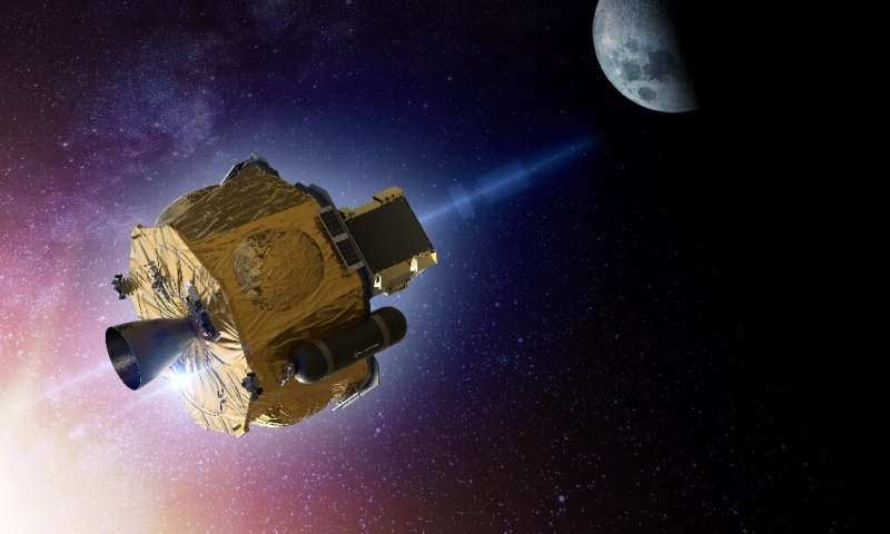An artist's rendering of the Photon spacecraft, developed by Rocket Lab