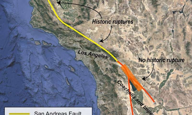 Ancient lake contributed to past San Andreas fault ruptures