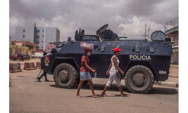 And Angola deployed special police aboard armoured vehicles to patrol Luanda streets to enforce anti-coronavirus regulations as