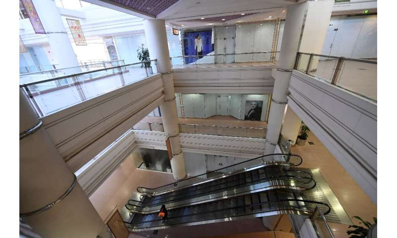 An empty UAE shopping mall amid the coronavirus pandemic