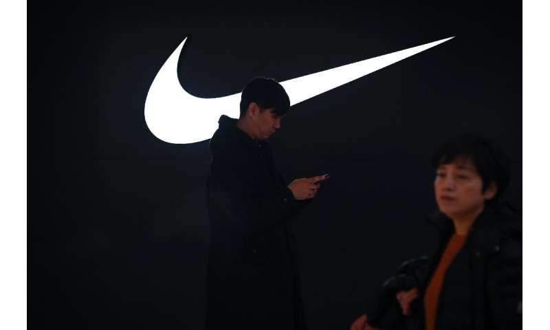 A Nike store in Beijing on January 15, 2020; its stores in much of China remain open but those in the US and several other count