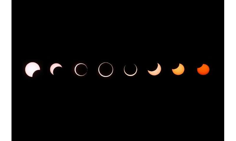 Annular eclipses occur when the Moon is not close enough to Earth to completely obscure sunlight, leaving a thin ring of the sol
