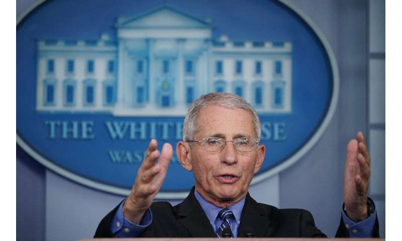 Anthony Fauci, who leads research into infectious diseases at the National Institutes of Health, told a briefing the virus was b