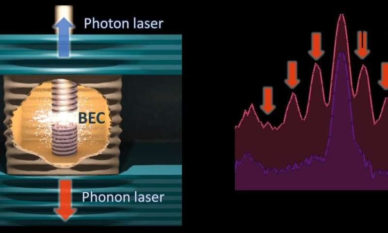 A phonon laser - coherent vibrations from a self-breathing resonator