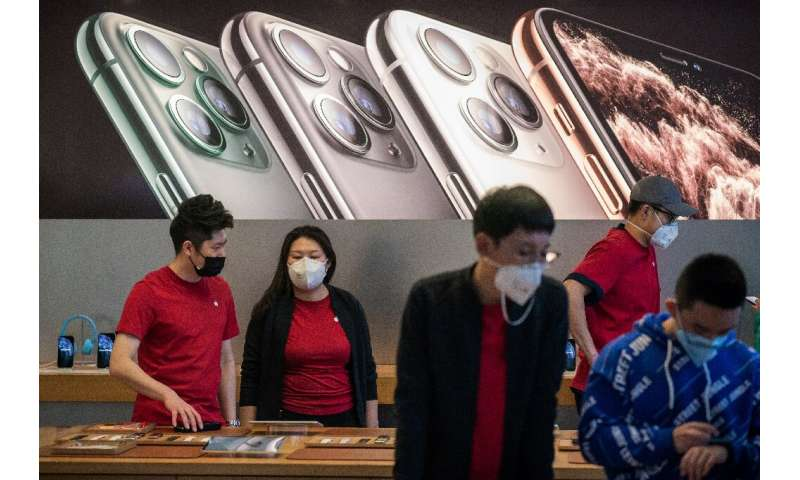 Apple says it sees a slower-than-anticipated return to normal conditions in China—where in both manufactures and sells products—