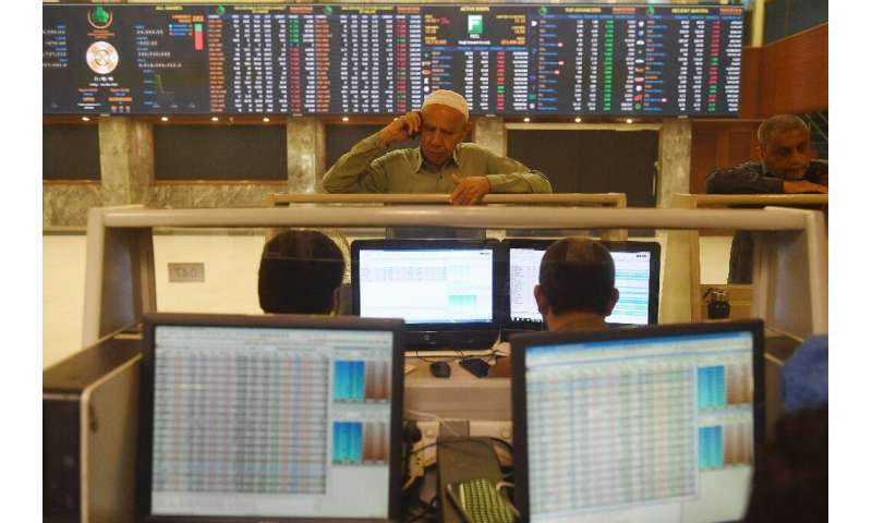 Asian stocks tumbled in volatile business following the worst day on Wall Street since the crash of 1987 as traders scrambled to
