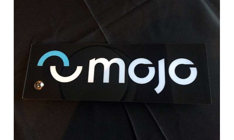 A smart contact lens prototype developed by California startup Mojo Vision delivers an augmented reality display in the user's f