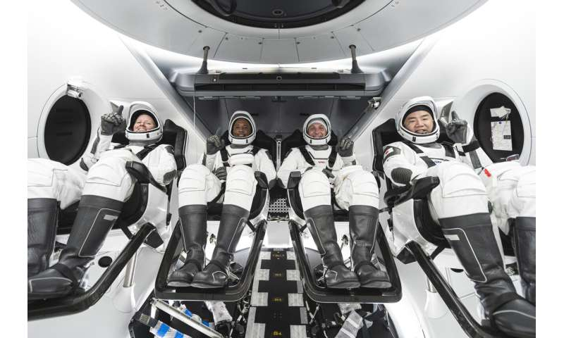 Astronauts head to launch site for SpaceX's 2nd crew flight
