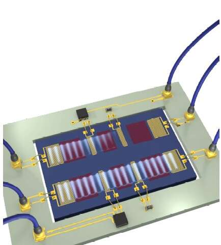 A system for the nonreciprocal transmission of microwave acoustic waves